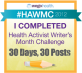 The Health Activist Writer's Month Challenge 2012